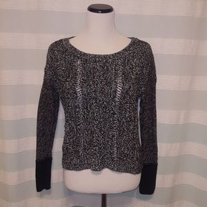 AE black, white and gray knit sweater